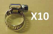 "Ideal Micro Hose Clamp 1/8-5/16"" 6-16mm x10 BULK Pack suit Nissan Toyota VW Ford"