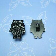 20 Owl Bird Flying Kid Novelty Self Shank Sewing Buttons Cardmarking Black K125