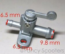 Hensim 150cc Fuel Petcock Outlet ID: 3.83mm, Inlet ID: 5.50mm SILVER COLOR