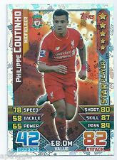 2015 / 2016 EPL Match Attax Star Player (139) Philippe COUTINHO Liverpool