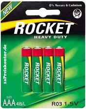 4x Batterie AAA Micro Rocket Heavy Duty Green Blister - R03 / R03P / UM4