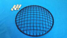 "5.75"" motorcycle HEADLIGHT STONE GUARD mesh grill cover FLAT BLACK 6"""