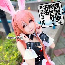 Mondaiji-tachi ga Isekai kara Kuru soudesuyo Kuro Usagi Anime Cosplay Pink Wig