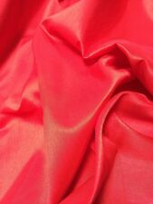 "PLAIN FAUX DUPION RAW SILK 100% POLYESTER FABRIC FREE P&P 57"" WIDE"