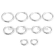 8-16mm Gold Stainless Steel Ear Helix Hoop Huggie Stud Sleeper Earrings Piercing