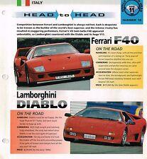 Ferrari F40 vs. Lamborghini DIABLO Road Test Brochure