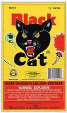 ORIGINAL FIRECRACKER FIREWORKS LABEL BLACK CAT CLASSIC BRICK MACAU MODERN 20/100
