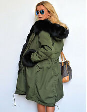 Warm Winter Faux Fur Hooded Women Windbreaker Long Jacket Cotton Coat Parka SALE