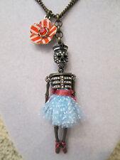 NWT Auth Betsey Johnson Ivy League Skeleton Dancer Sailor Long Pendant Necklace