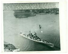 Feb 8, 1950 Battleship USS Missouri FREED From Mud Chesapeake Bay After Repairs