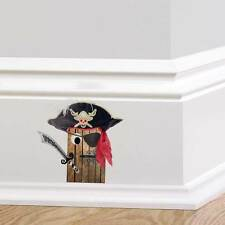 Pirate Door Wall Sticker Skirting Board Boys Bedroom Decal Elf Door Minature