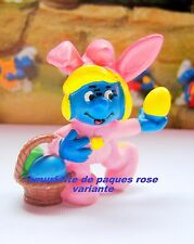 20491  Schtroumpf paques lapin rose Smurf puffi pitufo puffo schtroumpfette 1982