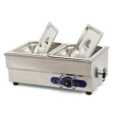 "Food Warmer Restaurant Bain Marie Steam table 6"" deep 1/2 size pans 1500W"