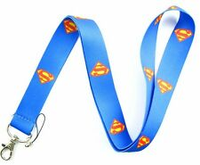 "Superman Blue with Superman Logo 15"" Lanyard/Landyard ID Holder Keychain-New!"