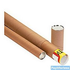 "4"" x 36""  Kraft Telescoping Shipping Mailer Mailing Storage Postal Tubes 15 Pc"