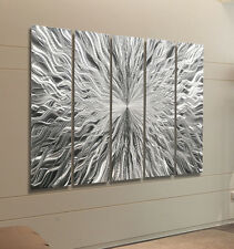 Epic Silver Modern Metal Wall Art, Contemporary Metal Wall Sculpture - Jon Allen