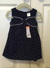NWT $30 Gymboree Corduroy Dress(Prep Perfect), Navy Blue, 12-18 Mths, Girl