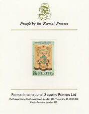 St Kitts 3041 - 1985  MASONIC LODGE 75c on Format International PROOF  CARD