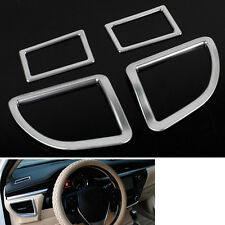 4X Chrome  Air Condition Vent Outlet AC Frame Cover Trim For Toyota Corolla 2014