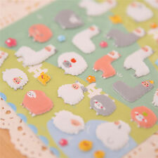 Kawaii 3D Cartoon Sheep Cartoon Puffy Animals*Scrapbooking Stickers Decorative