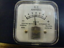 EMICO D.C. panel METER -6,0,+6 Ampere lot of (2)