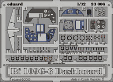 Eduard Zoom 33006 1/32 Messerschmitt Bf 109G-6 dashboard Hasegawa