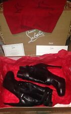 christian louboutin guerrierie booties black, belted, buckles, BEAUTIFUL Size 42