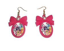 My Little Pony Cameo Earrings, Cute Hot Pink Kitsch MLP FIM Quirky Jewellery