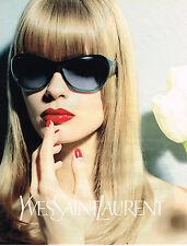 PUBLICITE ADVERTISING 045  2003  YVES SAINT LAURENT  coll lunettes solaires