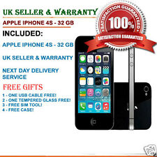 Apple iPhone 4s 32gb Nero (Sbloccato) Smartphone Grado B + + venditore di UK Stock &