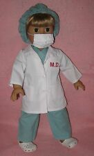 Doll Clothes Girl Doctor Set fits18 Inch Doll American Seller lsful