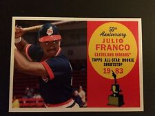 2008 Topps 50th Anniversary All Rookie Team #AR19 Julio Franco Cleveland Indians