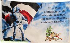 Fahne Militaria Landser Soldat mit Flagge und Spruch 1,5mx0,9m Deutschland #375