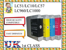 12 Cartuchos de tinta para LC10, LC51, LC57, LC960, LC1000 Brother No Original