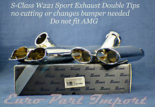 Mercedes-Benz W221 S-Class Chrome Exhaust Double Tail Pipe Tip Schatz Germany