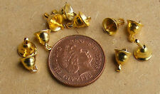 1:12 Gold Colour Christmas Bells Decoration (10) Dolls House Miniature Accessory