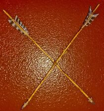 "Navajo arrows metal tip sinew and leather hand crafted signed ""Tex"" decor only '"