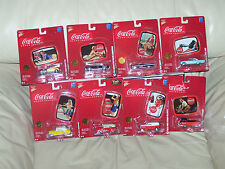 JOHNNY LIGHTNING COCA-COLA- BRAND MARQUE SET - / W TIN COLLECTOR TRAYS