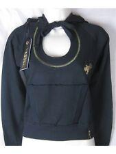 Hamnett Women's Black Gold Hoody Sweatshirt Top 12 Medium  Fast Free UK Shipping