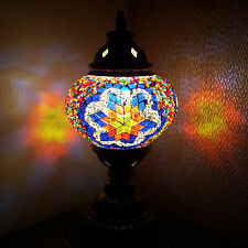 99p AUCTION Turkish Moroccan Tiffany Style Table Desk Lamp Light - UK TOP SELLER