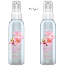 2 x Avon Naturals Bright Cherry Blossom Scented Spritz // Room Mist Spray 100ml