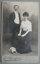 Photo Albuminé Chien Dog Carte de Visite Cdv Marseille Vers 1900