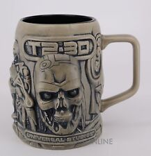 NEW Authentic Universal Studios T2-3D Terminator Guns Coffee/Beer Mug Stein Cup