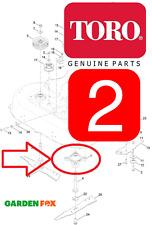 2 x Genuine TORO Timemaster 20975 20977 Cutter Deck MANDRINI ASSY 121-9107 1309