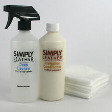 LARGE Leather Protection CONDITIONER & CLEANER Kit For Sofa, Handbag, Car etc