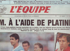 journal  l'equipe 13/02/91 FOOTBALL MARSEILLE CANTONA PAPIN PROST SKI GUY