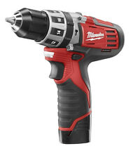 New Milwaukee 2411-22 M12 12-Volt 3/8-Inch Hammer Drill Kit