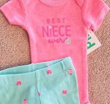 SWEET! NEW BABY CHILD OF MINE BY CARTER'S PREEMIE 2PC BEST NIECE OUTFIT REBORN