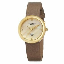 Akribos XXIV Women's AK687YG Impeccable Analog Display Swiss Quartz Brown Watch