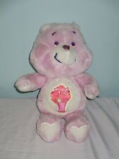 """Vintage Share Bear Care Bear Soft Plush toy. 1985. 13"""".Original Milkshake Symbol"""